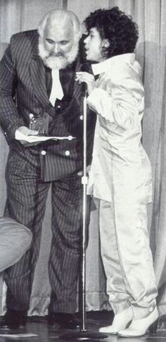 Minneapolis Music Awards '83 with his former bodyguard Chick Huntsberry whom passed in 1990 from drug abuse, but he was a close friend of Prince's.