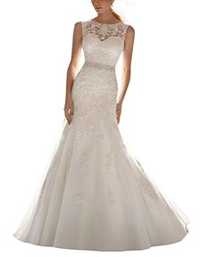 online shopping for ScelleBridal Latest Sleeveless Lace Appliques Mermaid Bridal Dress Wedding Gown from top store. See new offer for ScelleBridal Latest Sleeveless Lace Appliques Mermaid Bridal Dress Wedding Gown Applique Wedding Dress, Lace Mermaid Wedding Dress, Mermaid Dresses, Lace Dress, Lace Applique, Tulle Lace, Wedding Dresses 2014, Cheap Wedding Dress, Bridal Dresses