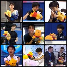 Pooh and Yuzu appreciation post!! Hopefully Pooh will take care of Yuzu at NHK!!. ❤️!! #yuzuruhanyu