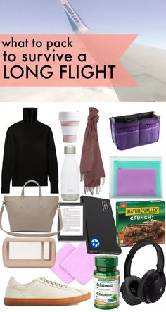 What to pack to survive a Long Flight ⋆ chic everywhere - what to pack on plane long flight, airline travel tips and tricks, Everything I make sure to pack for a long haul flight to stay organized and comfortable for the flight. Packing List For Travel, Packing Tips, Europe Packing, Traveling Europe, Backpacking Europe, Vacation Packing, Traveling Tips, Travel Advice, Travel Guides