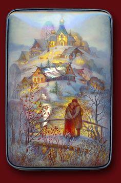 живопись из Федоскино, художник Зоя Миронова