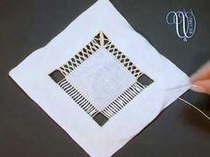 11 - Gli sfilati - SFILATURE E ANGOLI CON FILI ANNODATI - YouTube Needle Lace, Hand Embroidery, Messages, Make It Yourself, Youtube, Crafts, Home, Hardanger Embroidery, Embroidery Stitches