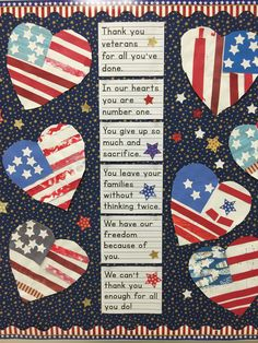 For Veterans Day, students can make a heart to give to a veteran. They can write the same phrase that is on the bulletin board on the back of the heart for their veteran. Veterans Day Poem, Happy Veterans Day Quotes, Veterans Day Images, Veterans Day Thank You, Veterans Day Gifts, Veterans Day For Kids, Remembrance Day Activities, Veterans Day Activities, Remembrance Day Poppy