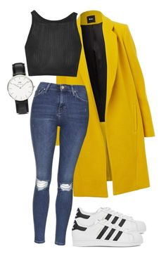 """""""Untitled #26"""" by missophiehopper on Polyvore featuring Daniel Wellington, Topshop and adidas Originals"""