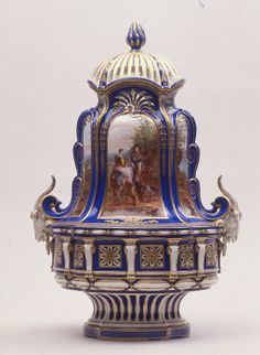 Potpourri vase (pot pourri à têtes de boucs), 1763, Sèvres, France, soft-paste porcelain. Waddesdon Collection