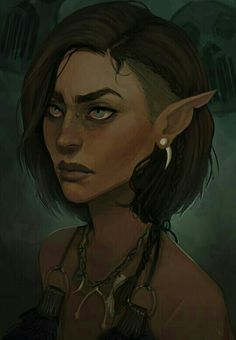 Female Elf Druid - Pathfinder PFRPG DND D&D d20 fantasy