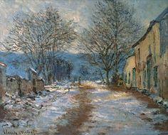 Клод Моне - Snow Effect at Limetz, 1885-86. Клод Оскар Моне