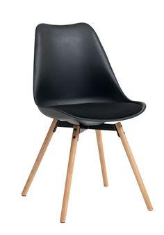 Ruokapöydän tuoli KASTRUP kangas musta | JYSK