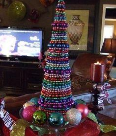 Mardi Gras Bead Tree -- I like it!