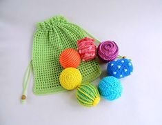 Montessori baby balls and crochet bag Rainbow baby open ended toys Sensory kit toddler learning toys Kids activity crochet baby rattle Preemie Crochet, Crochet Ball, Crochet Toys, Learning Toys For Toddlers, Toddler Learning, Toddler Toys, Halloween Gift, Montessori Baby Toys, Crochet Storage