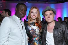 Actors Dayo Okeniyi, Jacqueline Emerson and Josh Hutcherson attend the NYLON Magazine 13th Anniversary Celebration held at Smashbox West Hollywood on April 10, 2012 in West Hollywood, California.