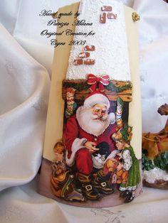 I Sentieri dell'Arte: Decorazione : Tegole di Natale Christmas Stockings, 3 D, Christmas Crafts, The Originals, Holiday Decor, Google, Anna, Home Decor, Winter