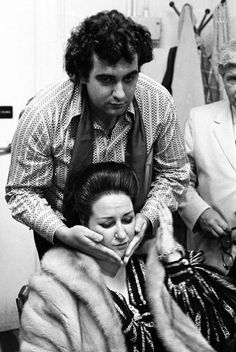 Placido Domingo and Montserrat Caballe, by Clive Barda