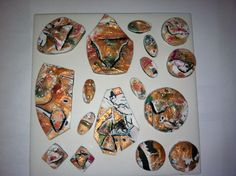 Sept 8 2013 : My new creation using a Mokume Gane w/alcohol ink and copper leaf. A Barbara McGuire Technique !
