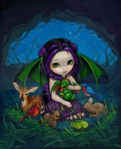 Dragonling Garden III - Jasmine Becket-Griffith