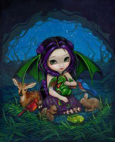 Dragonling Garden III - Jasmine Becket-Griffith