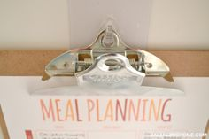 Meal Plan Printable and reusable hooks Weekly Menu Printable, Meal Planning Printable, Calendar Printable, Command Center Kitchen, Organization, Organizing, Getting Organized, Homemaking, Family Meals