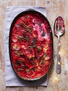 Parsnip beetroot gratin | Beetroot recipes | Jamie magazine recipes