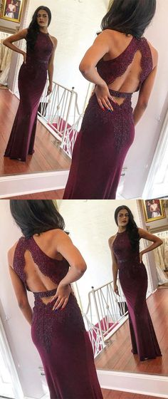 elegant burgundy mermaid prom dresses, modest open back evening gowns, simple party dresses with appliques Pageant Dresses For Teens, 2 Piece Homecoming Dresses, Gold Prom Dresses, Elegant Bridesmaid Dresses, Tulle Prom Dress, Mermaid Prom Dresses, Party Dresses, Graduation Dresses, Prom Gowns