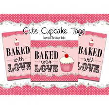 free and fabulous...handmade baked with love tags for your creations!