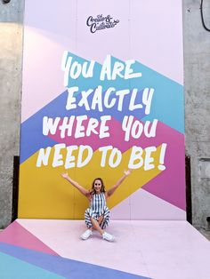 Typography Create & Cultivate: Los Angeles - frankly ray Can I Order Crocs Shoes Online? Photowall Ideas, Wal Art, School Murals, Church Design, Mural Wall Art, Co Working, Environmental Design, Web Design, Corporate Events