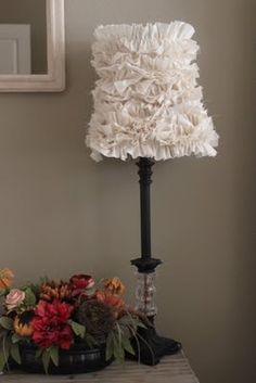 Ruffled Lamp Shades - tute