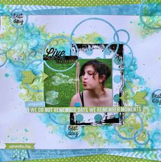Layout: Kaisercraft DT - Live Every Moment - Pop Collection How To Make Scrapbook, Kids Scrapbook, Scrapbook Pages, Scrapbook Sketches, Scrapbooking Layouts, Hello Life, Cruise Scrapbook, Remember Day, Paper Bunting