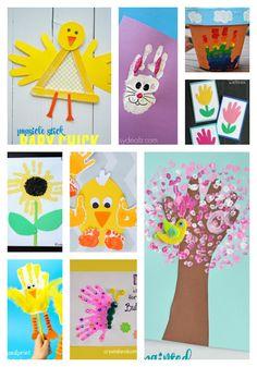 Handprint Spring Crafts for Kids