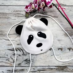 Black white kawaii animal #backpack with kung fu #panda face for kids and teens. #Pandalover And your #kids are also crazy about pandas? 😃😍…