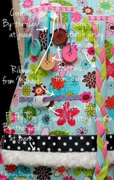The Busy Hands Fidget Apron Pattern & Tutorial Hopeful Threads' July 2013 Project | Fishsticks Designs Blog