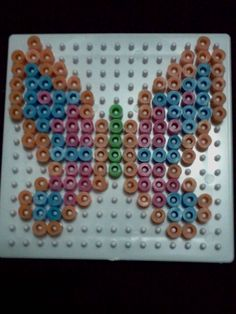 butterfly - perler beads - I made this today. good stress reliever
