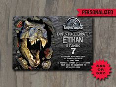 Jurassic World Invitation / Jurassic World Party / by AMINdesign