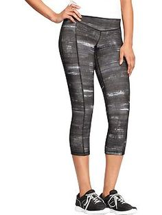 """Womens Old Navy Active Patterned Compression Capris (20"""")"""