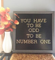 You have to be odd to be number one! #odd #different #spiritual #lawofattraction #loa #universe #numberone #be