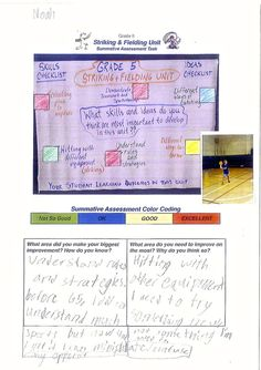 Example Assessment Tasks  Pyp Pe With Andy  Assessment In Pe