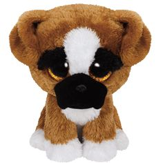"""Brutus the Boxer Dog - Small 6.5"""" """"You'll never know how much I care. I'll give you big licks and follow you everywhere."""" Birthday: September 2 Beanie Boos are an adorable Ty collection of plush full-"""