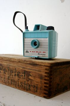 Blue Vintage Camera by RussetandEmpire on Etsy, $45.00