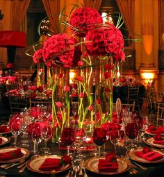 Wedding Reception Decorations | red