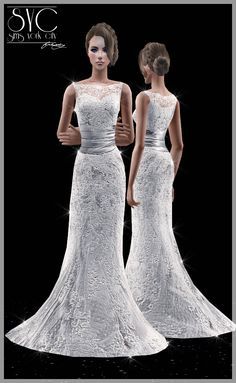 Sims York City: Wedding Dress 04 and THANKS FOR 100K VISITS!