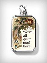 Alice in wonderland   necklace charm  plasticland.com