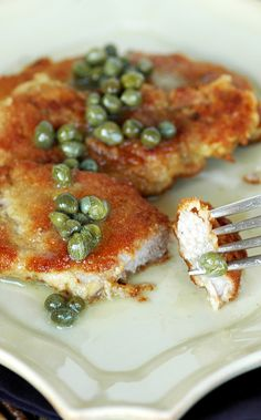 Pork Schnitzel with Lemon Caper Butter.  As good as it looks in the picture, my family loved it!