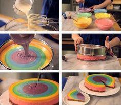 sabsy's cake dreams: Regenboog kwarktaart