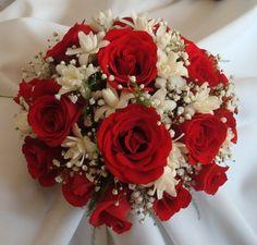 ramo de novia rojo y blanco - Buscar con Google