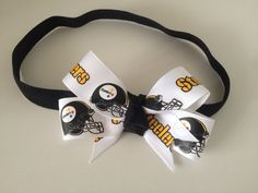 Pittsburgh Steelers Headband Steelers by LavenderLadybugsNY, $8.00