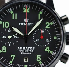Russian Military Chronograph Watch Poljot AVIATOR I 3133 / 6971314 Poljot 3133…