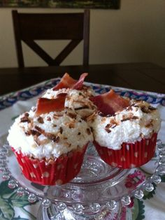 Coconut-Maple-Bacon Cupcakes