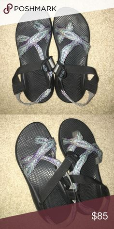 Chacos river print sandals Great condition, only worn twice. Size 8/9. Willing to go lower off site. Chacos Shoes Sandals