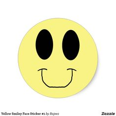 Yellow Smiley Face Sticker #1