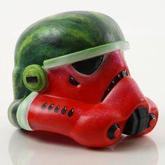 "#StarWarsLegion #art exhibition helmet design ""Juicytrooper"" by Lindsey St. Pierre. #StarWars"