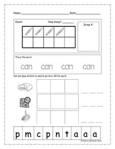 August Morning Work - Kindergarten - 20 pages for each month - Language Arts and Math skills included each day - Great for literacy centers (Daily 5)  $